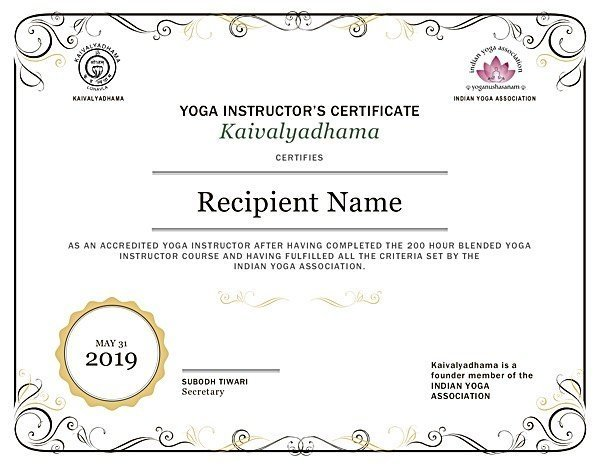 Yoga Teacher Training And Certification Kaivalyadhama India Classical Education